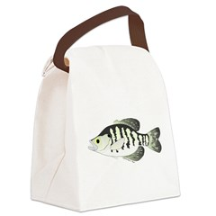 White Crappie sunfish fish Canvas Lunch Bag
