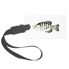 White Crappie sunfish fish Luggage Tag