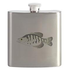 White Crappie sunfish fish Flask