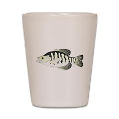 White Crappie sunfish fish Shot Glass