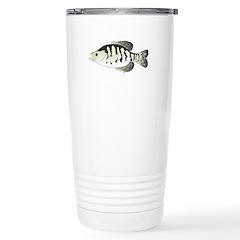 White Crappie sunfish fish Travel Mug