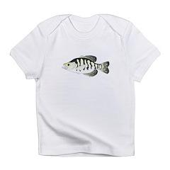 White Crappie sunfish fish Infant T-Shirt
