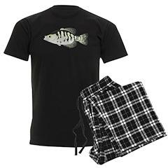 White Crappie sunfish fish Pajamas