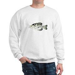 White Crappie sunfish fish Sweatshirt