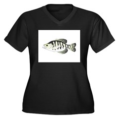 White Crappie sunfish fish Plus Size T-Shirt