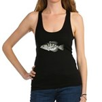 White Crappie sunfish fish Racerback Tank Top