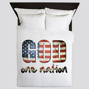 One Nation under God Queen Duvet
