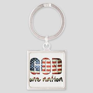 One Nation under God Keychains