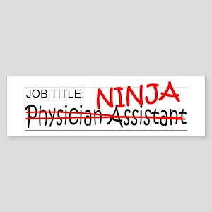 Job Ninja Physician Asst Sticker (Bumper)
