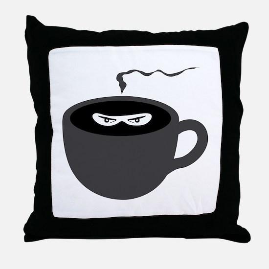 Coffee Ninja Throw Pillow