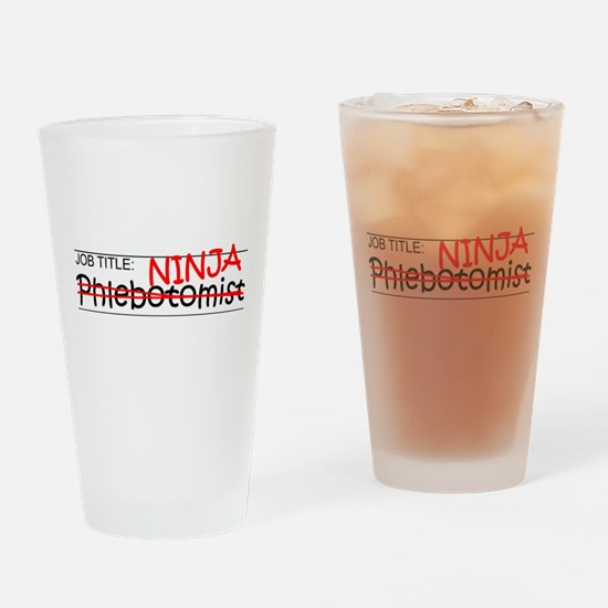 Job Ninja Phlebotomist Drinking Glass