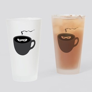 Coffee Ninja Drinking Glass