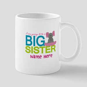 Personalized Elephant Big Sister Mug