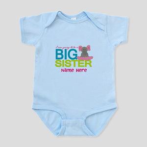 Personalized Elephant Big Sister Infant Bodysuit