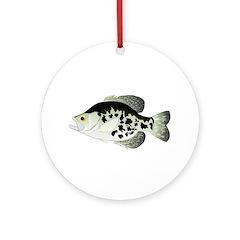 Black Crappie Sunfish fish Ornament (Round)