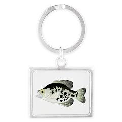 Black Crappie Sunfish fish Keychains
