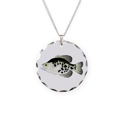 Black Crappie Sunfish fish Necklace