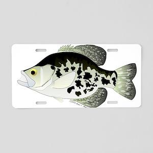 Black Crappie Sunfish fish Aluminum License Plate