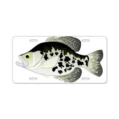 Black Crappie Sunfish fish Aluminum License Plate