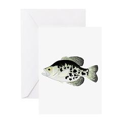 Black Crappie Sunfish fish Greeting Card