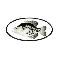 Black Crappie Sunfish fish Patches