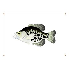 Black Crappie Sunfish fish Banner