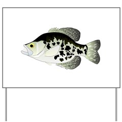 Black Crappie Sunfish fish Yard Sign