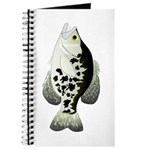 Black Crappie Sunfish fish Journal
