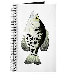 Black Crappie Sunfish fish Journal