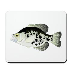 Black Crappie Sunfish fish Mousepad