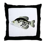 Black Crappie Sunfish fish Throw Pillow