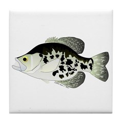 Black Crappie Sunfish fish Tile Coaster