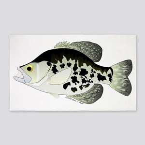 Black Crappie Sunfish fish 3'x5' Area Rug