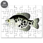 Black Crappie Sunfish fish Puzzle