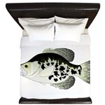 Black Crappie Sunfish fish King Duvet