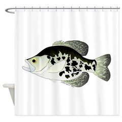 Black Crappie Sunfish fish Shower Curtain