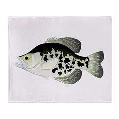Black Crappie Sunfish fish Throw Blanket