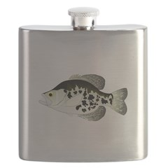 Black Crappie Sunfish fish Flask