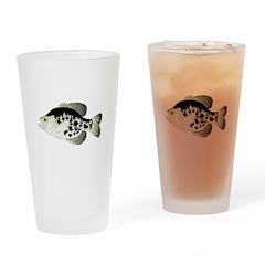 Black Crappie Sunfish fish Drinking Glass