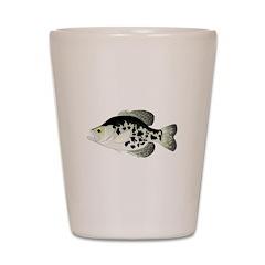 Black Crappie Sunfish fish Shot Glass