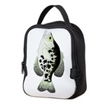 Black Crappie Sunfish fish Neoprene Lunch Bag