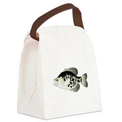 Black Crappie Sunfish fish Canvas Lunch Bag