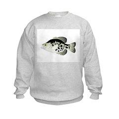 Black Crappie Sunfish fish Sweatshirt