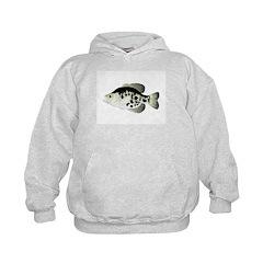 Black Crappie Sunfish fish Hoodie