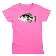 Black Crappie Sunfish fish Girl's Tee