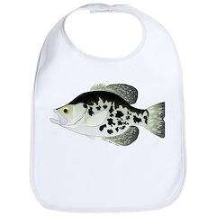 Black Crappie Sunfish fish Bib