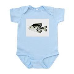 Black Crappie Sunfish fish Body Suit