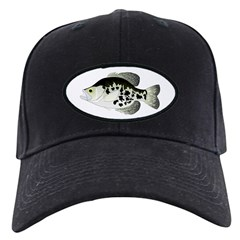 Black Crappie Sunfish fish Baseball Hat