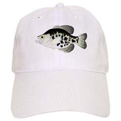 Black Crappie Sunfish fish Baseball Baseball Cap