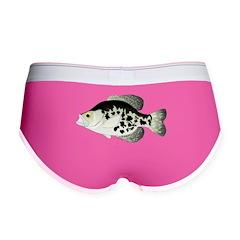 Black Crappie Sunfish fish Women's Boy Brief